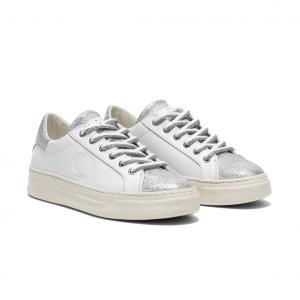 Sneaker bianca/argento Crime London
