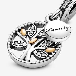 Charm pendente albero della famiglia scintillante