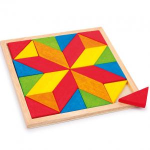 Mosaico geometrico legno