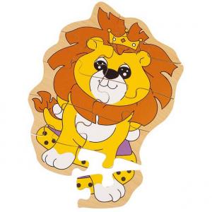 Puzzle legno leone 10pz