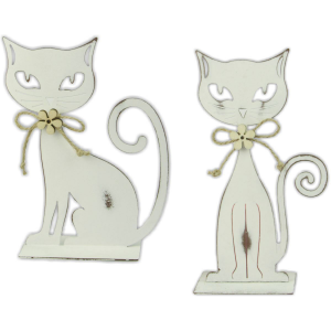 Gatto in metallo bianco
