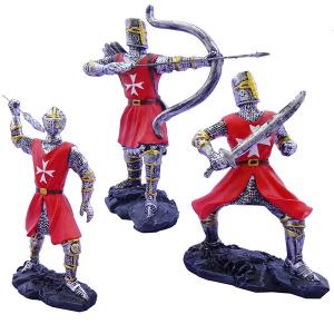Cavalieri templari medievali giubba rossa h13