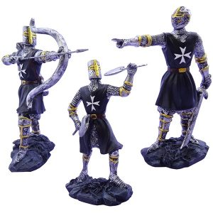 Cavalieri templari medievali giubba nera h13