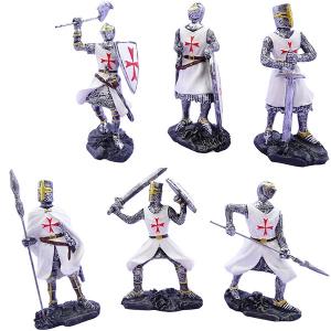 Cavalieri templari medievali giubba bianca h10