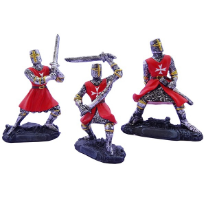 Cavalieri templari medievali giubba rossa h8