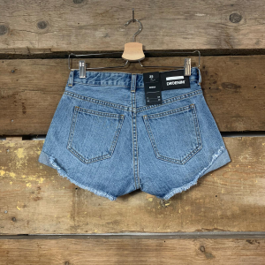 Pantaloncino Dr.Denim inn Jeans con Risvolto Laterale Azzurro Chiaro