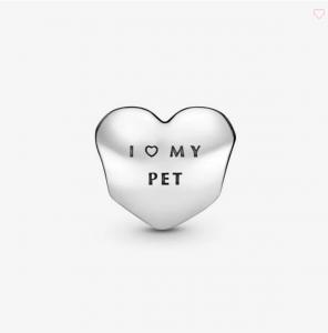 Charm a Cuore con Zampa 'Amo il mio cucciolo'