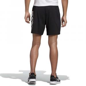 Adidas Bermuda Line Black Logo Scritta da Uomo
