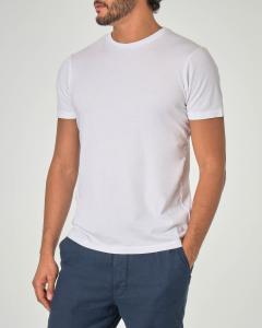 T-shirt bianca tinta unita in puro cotone