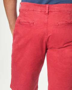 Bermuda chino rosso in cotone stretch