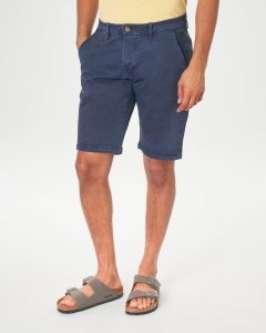 Bermuda chino blu in cotone stretch