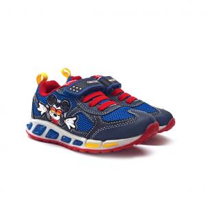Sneaker navy/rossa con Topolino Geox
