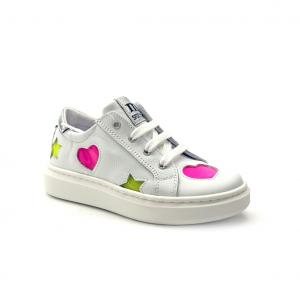 Sneaker bianca/fuxia/verde Melania