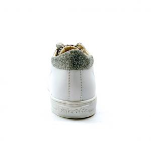 Sneaker bianca/argento con cuore Falcotto