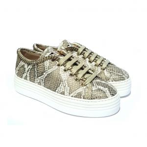 Sneaker taupe con catena Stokton