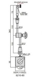Supporto porta comparatore 6210-80