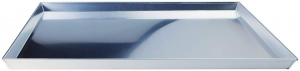 Teglia rettangolare bassa in alluminio cm.45x45x3h