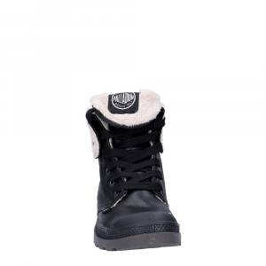 Palladium Lady Baggy Black Leather Pilot-1