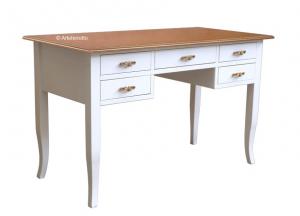 Mesa de despacho bicolor 5 cajones