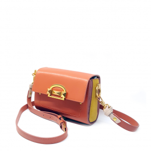 Minibag/marsupio mattone/giallo Cromia