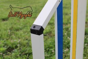 Set da 5, Salto leggero agility dog in alluminio, conformi al regolamento enci-fci