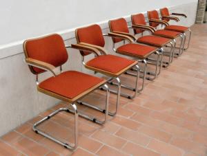 Set di  6 sedie  vintage Gavina