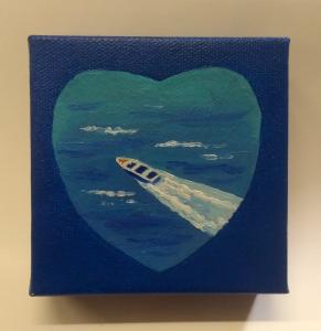 Sailing on lake Heart