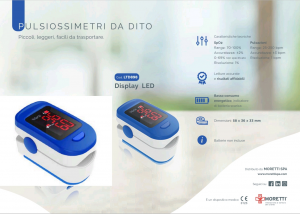 PULSOSSIMETRO MINI A DITO – ADULTI – DISPLAY LED FS10C MORETTI