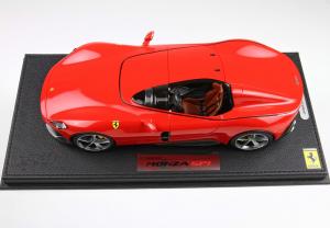 Ferrari Monza SP1 2018 Rosso Corsa 322 48 Pieces With Case 1/18