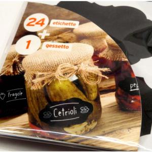 24 Etichette adesive con gessetti