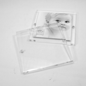 Cornice portafoto magnetica trasparente 10x10