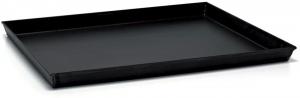 Teglia rettangolare in ferro blu con angoli sfasati cm.45x35x3h