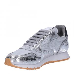 Voile Blanche Julia sneaker crack argento-2
