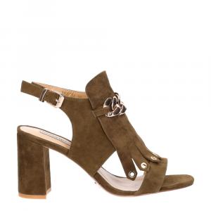 Gianni Renzi Couture sandalo in camoscio verde-2