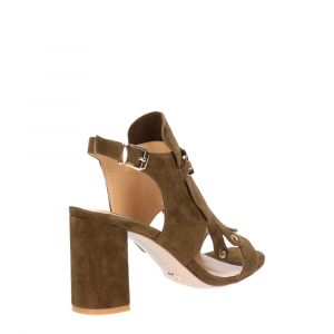 Gianni Renzi Couture sandalo in camoscio verde-3