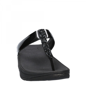 FitFlop Fino Toe Post Black Crystall -2