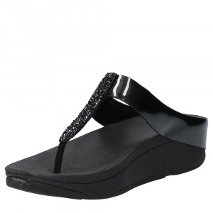 FitFlop Fino Toe Post Black Crystall -3