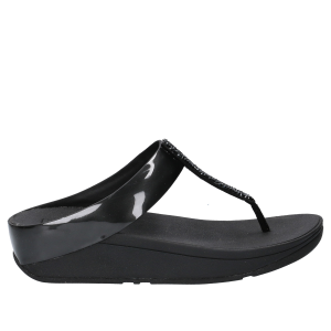 FitFlop Fino Toe Post Black Crystall -5