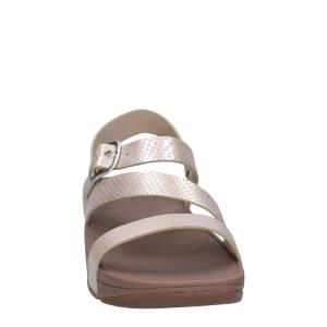 FitFlop Skinny Z- Cross Sandal Snake Print Silver-3