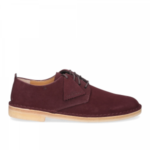 Clarks Original Desert London Burgundy Suede-3