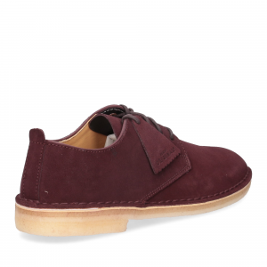 Clarks Original Desert London Burgundy Suede-4