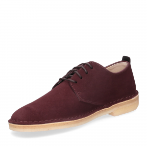 Clarks Original Desert London Burgundy Suede-5