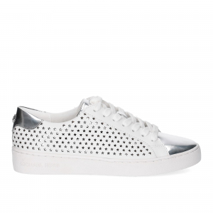 Michael KorsIrving Lace Up Lasered Leather White Silver-3