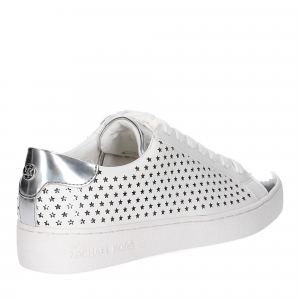 Michael KorsIrving Lace Up Lasered Leather White Silver-5