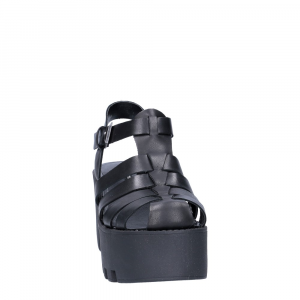 Windsor smith fluffy black leather-1