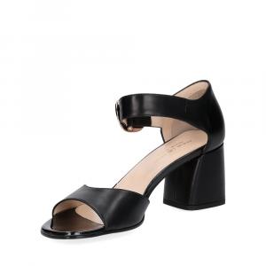 Anna De Bray sandalo nappa nera-2
