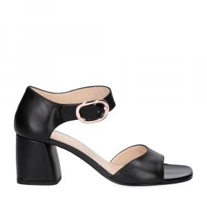 Anna De Bray sandalo nappa nera-4