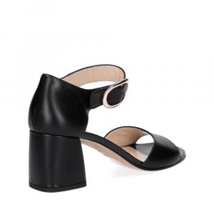 Anna De Bray sandalo nappa nera-5