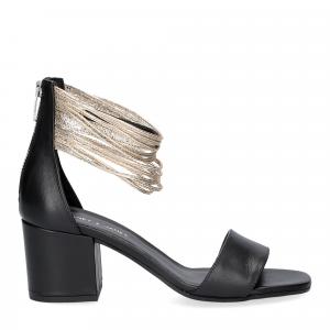Janet & Janet sandalo nero platino-1
