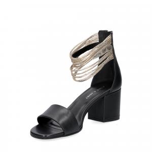 Janet & Janet sandalo nero platino-3